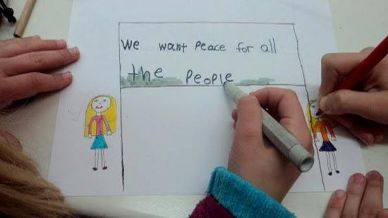disegno we want peace